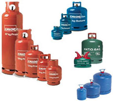 Gas bottles stocked by us